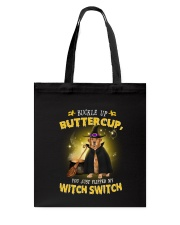 Golden Retriever and witch Tote Bag thumbnail