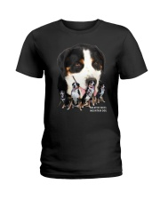 Greater Swiss Mountain Dog Awesome Family 0701 Ladies T-Shirt thumbnail