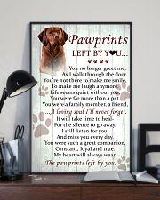 Vizsla Pawprints Poster 2201 11x17 Poster lifestyle-poster-2