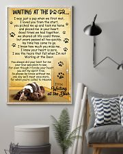 English Cocker Spaniel Waiting at The Door 11x17 Poster lifestyle-poster-1