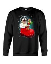 Border Collie socks christmas 0310 Crewneck Sweatshirt front