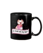 Pit Bull - You should see my heart Mug tile
