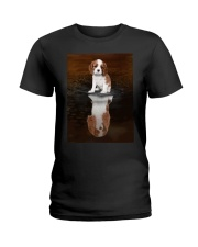 Cavalier King Charles Spaniel Reflection Mug 1312 Ladies T-Shirt thumbnail