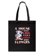 Dog and flowers Tote Bag thumbnail