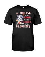 Dog and flowers Classic T-Shirt thumbnail
