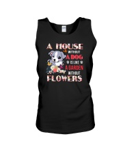 Dog and flowers Unisex Tank thumbnail