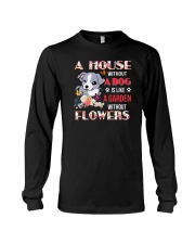 Dog and flowers Long Sleeve Tee thumbnail