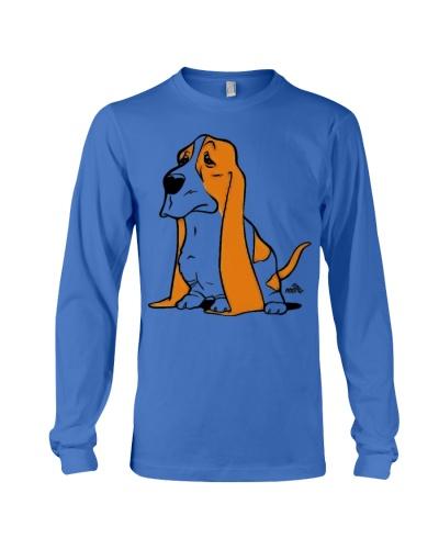 Basset cartoon dog