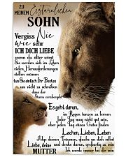 Perfektes Geschenk für Ihren Sohn - D GER 24x36 Poster front