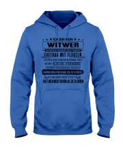 I'm not a widower i'm a husband to a wife wings Hooded Sweatshirt tile
