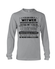 I'm not a widower i'm a husband to a wife wings Long Sleeve Tee tile