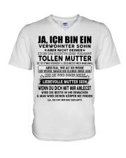 Perfektes Geschenk für Sohn TON00 V-Neck T-Shirt thumbnail
