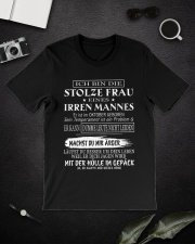 proud husband of a crazy wife 10 Classic T-Shirt lifestyle-mens-crewneck-front-16