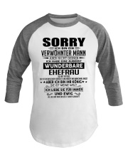 SORRY - MANN TATTOOS Baseball Tee thumbnail