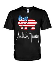 Melania Trump Signature Shirt V-Neck T-Shirt thumbnail
