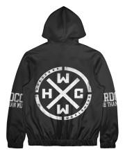 Hardcore Worldwide -All Over Print Full Zip Hoodie Men's All Over Print Full Zip Hoodie back
