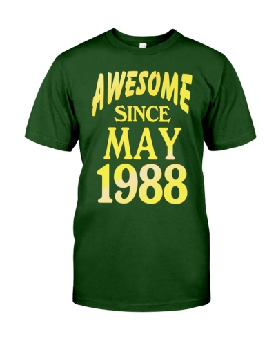 Birthday Shirt Awesome since May 1988 Gifts 30 Yea