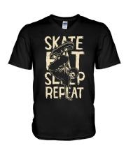 SKATE EAT SLEEP REPEAT V-Neck T-Shirt thumbnail