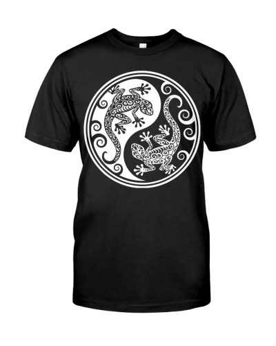 Black and White Yin Yang Geckos