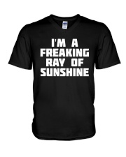 I'm A Freaking Ray Of Sunshine V-Neck T-Shirt thumbnail