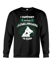 Putting Animal Abusers To Sleep Crewneck Sweatshirt thumbnail