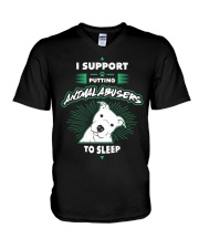 Putting Animal Abusers To Sleep V-Neck T-Shirt thumbnail