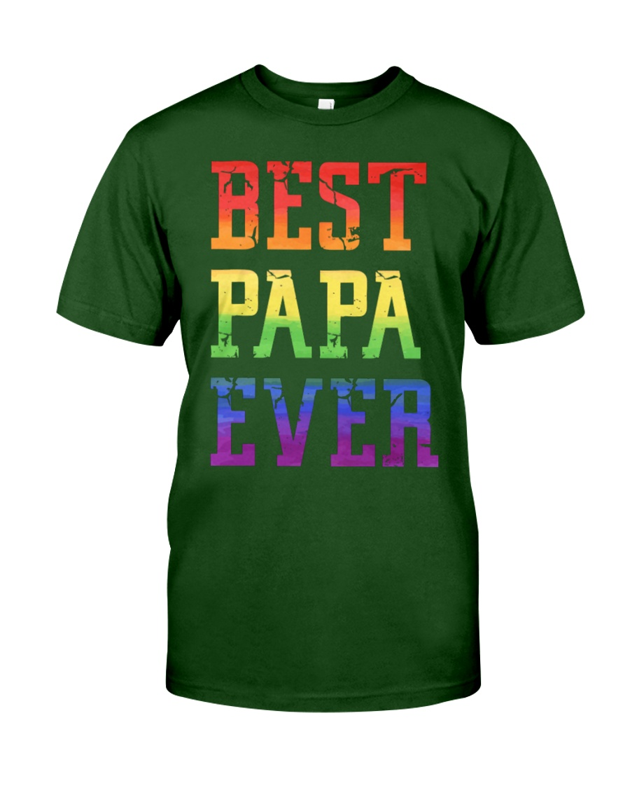LGBT Pride Best papa ever Classic T-Shirt showcase