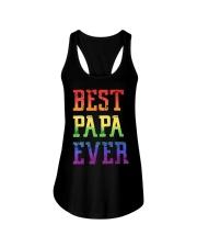 LGBT Pride Best papa ever Ladies Flowy Tank thumbnail