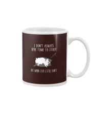 Cat Lazy Shirt I Do Not Always Have Time Study  Mug thumbnail