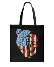 patriotic bear Tote Bag thumbnail