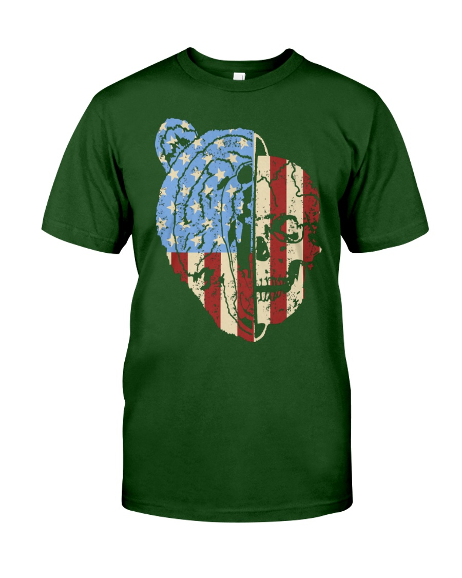 patriotic bear Classic T-Shirt