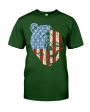 patriotic bear Classic T-Shirt front