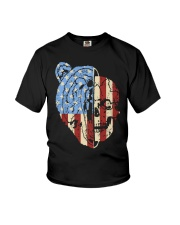 patriotic bear Youth T-Shirt thumbnail