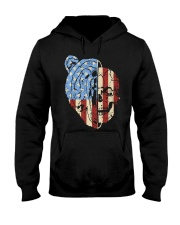patriotic bear Hooded Sweatshirt thumbnail