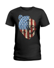 patriotic bear Ladies T-Shirt thumbnail