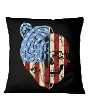 patriotic bear Square Pillowcase thumbnail
