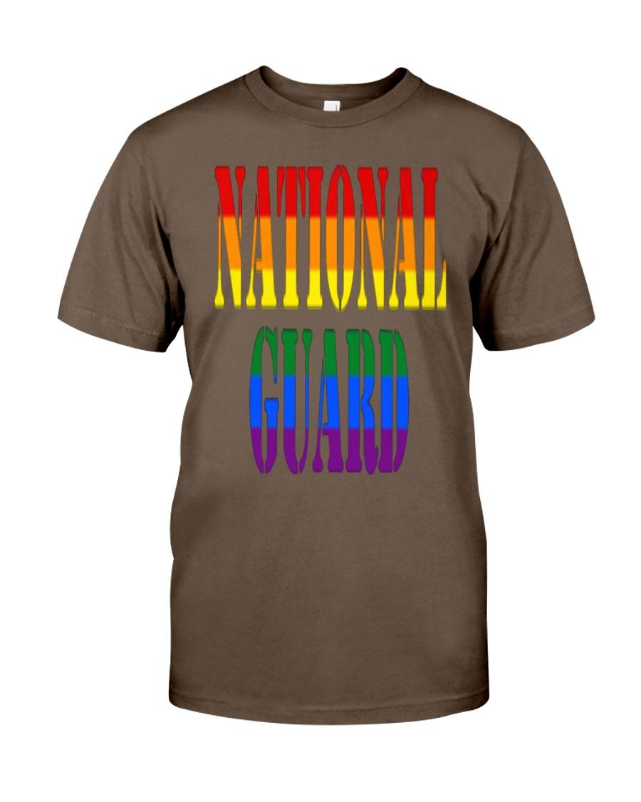 NATIONAL GUARD RAINBOW LGBT PRIDE MILITA Classic T-Shirt showcase