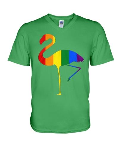 LGBT Pride Colors Flamingo T-Shirt