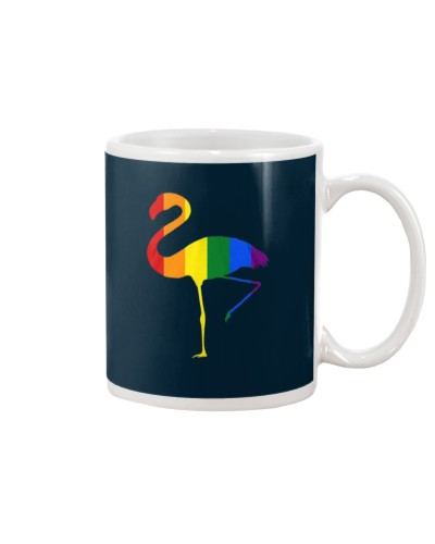 LGBT Pride Colors Flamingo T-Shirt