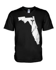 Nurse Graduation Florida CNA NP RN V-Neck T-Shirt thumbnail