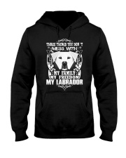 Dog Labrador T-shirts Three Things You Don't Mess Hooded Sweatshirt thumbnail