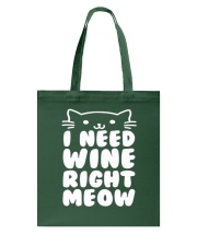 I NEED WINE RIGHT MEOW Cat Wine Tote Bag thumbnail