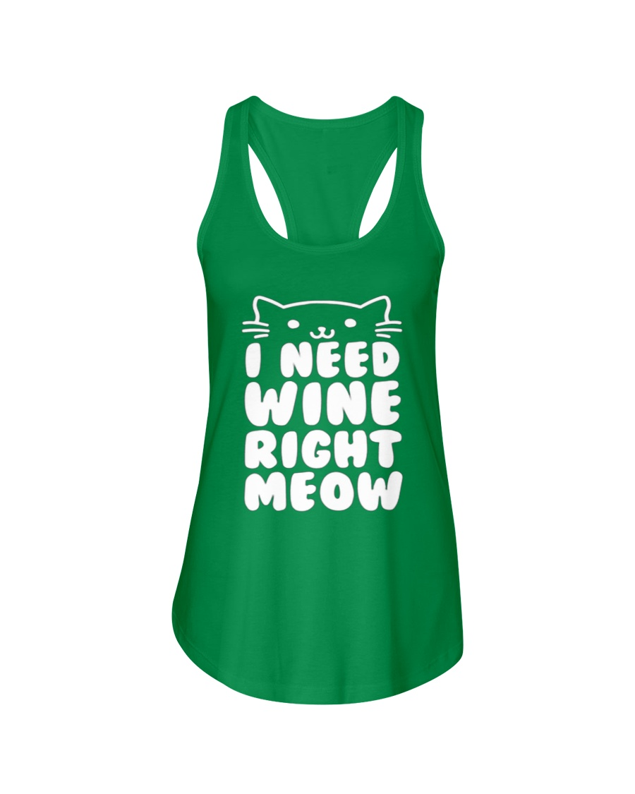 I NEED WINE RIGHT MEOW Cat Wine Ladies Flowy Tank