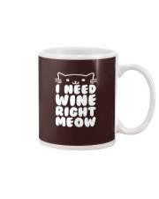 I NEED WINE RIGHT MEOW Cat Wine Mug thumbnail