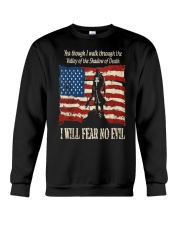 Patriotic fear no Evil Crewneck Sweatshirt thumbnail