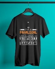 PARALEGAL SARCASM SHIRTS Classic T-Shirt lifestyle-mens-crewneck-front-3