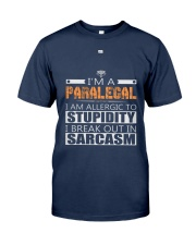 PARALEGAL SARCASM SHIRTS Classic T-Shirt front
