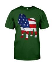 Patriotic Bulldog Classic T-Shirt front