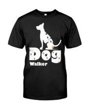 Dog Walker T Shirt for Dog Lover Classic T-Shirt front