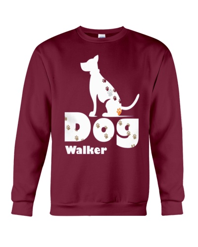 Dog Walker T Shirt for Dog Lover